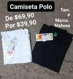 LÍQUIDA! Camiseta Polo Masculino Malwee