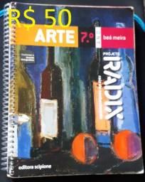 Livro - Projeto Radix - Arte - 7º Ano - R$ 50