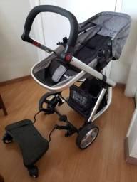 Carrinho com bebê conforto Mobi Travel System + Plataforma + Base PARA carro