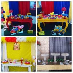 Mesa de decoração de festa