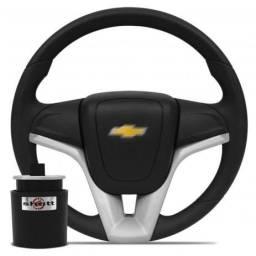 Volante Cruze Logo Preto Gm Corsa Wind Classic Prisma Celta