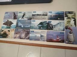 Cartão Telefônico série Antártida