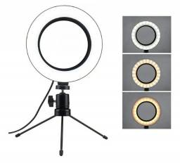 ILUMINANDOR RING LIGHT 16CM COM TRIPE DE MESA