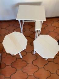 Ninho de mesas estilo inglês com patina provençal