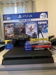 PS4 semi -novo 1 ano de uso