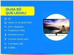 Tv Samsung Qled Q70T 55 Polegadas na CAIXA