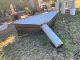 Coifa industrial usada em inox