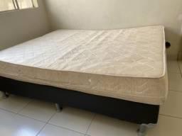 Cama box+ colchão king size