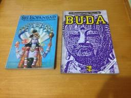 Título do anúncio: 2 Livros Sri Isopanisad Khrishna e Pensamento vivo de Buda R$29