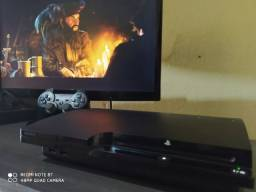 PS3 slim desbloqueado 1500 jogos+ garantia