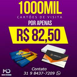 CARTÕES DE VISITA R$82,50