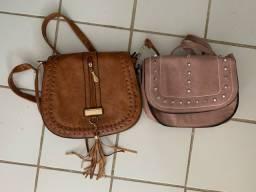 Bolsas pequena e grande
