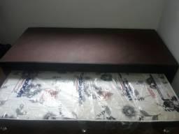 Cama de solteiro Ortobom c/ cama auxiliar