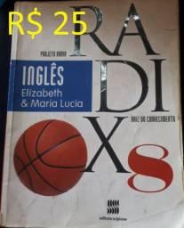 Livro Projeto radix 8 inglês - R$ 25