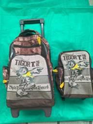 Kit mochila/ bolsa e lancheira escolar tigor