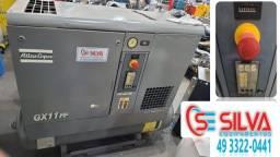 Compressor de ar parafuso GX11FF Atlas Copco C/ secador de ar comprimido (Revisado)