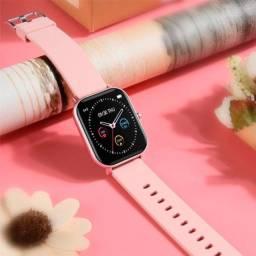 Smartwatch P8 Esportivo/com Frequência Cardíaca/ Full Touch - Ouro Rosa