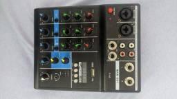 Mixing profissional console de 4 canas