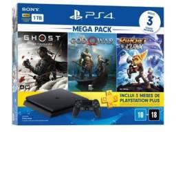 Título do anúncio: Console Playstation 4 Slim 1TB 2 Controles 4 meses de uso