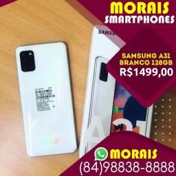 (Oferta Exclusiva) Galaxy A31 128Gb Branco Pérola (Bateria 5.000 Mil Amperes)
