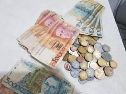 Vende-se moedas e cédulas antigas