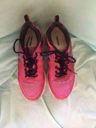 Tênis tyron rosa e roxo tamanho 36