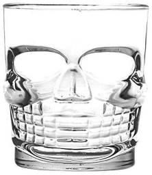 Conjunto 04 copos skull para suco ou whisky da marca Lyor