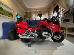 Moto eletrica BMW infantil 12V modelo policia vermelha