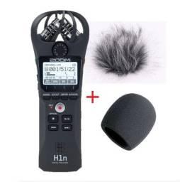 Gravador Digital Zoom H1n Profissional Stereo + Espuma + Espuma Corta Vento