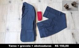 Terno, gravata e abotoaduras, usado apenas 1x - Canoas - POA - RS