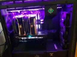 Ryzen 7 2700x + Asus x370 Prime Pro + 2x8gb Corsair RGB 3000Mhz + WC Pichau Aqua 120mm