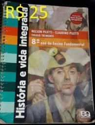 Livro - História e Vida Integrada: 8º Ano - R$ 25