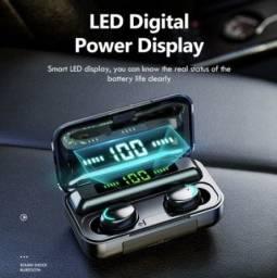 Fone Bluetooth F9 com powerbank - Aceitamos cartoes/PIX