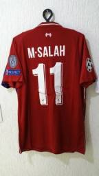 dcc9d64b1f03a Camisas Liverpool Temporada 2018\2019 M Salah titular e reserva pronta  entrega