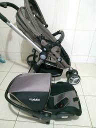 Carrinho de Bebê com Moisés + Bebe conforto Kiddo Compass ll