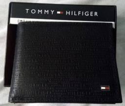Carteira Porta cédulas em Couro Tommy Hilfiger Preto Original