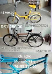 Bicileta Monark ,Monareta,E quadro de Bicicleta antigas Antiguidade! Vila Velha