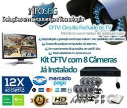 Super Promoção Kit Cftv 8 Câmeras (Grátis Dois Microfones Espiões)