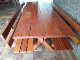 Mesa Churrasco em madeira maçica 2 metros
