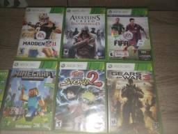 Xbox 360 21 Jogos 2 Controles Microsoft Entrego Parcelo 10x Slim Troco Pc Ps3 Note