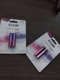 Pilhas Elgin AAA recarregáveis