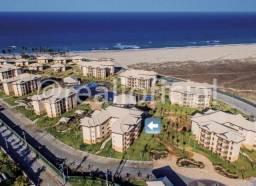 VG Sun Cumbuco, Belíssimo Apartamento Mobiliado com 39m² Pé na Areia