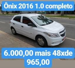 Onix 2016 1.0 completo 6.000,00 mais 48 x de 965,00 - 2016