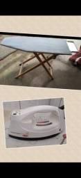 Mesa e ferro de passar roupas