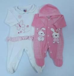 Lote de roupas bebê menina de 0 a 6 meses