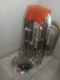 Tuba Weril J310 em Dó e Eufonio Pearl River em Sib