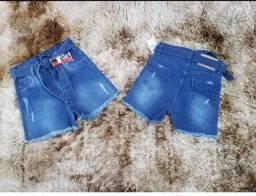 3 Short jeans feminino