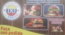 Hambúrguer artesanal