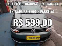 Fox 1.0 , Entrada R$ 3.000 + Parcelas R$ 599,00
