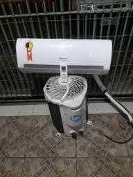 Ar condicionado Split 9.000 BTUs quente e frio 220v
